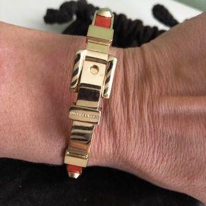 Michael Kors Leather & Gold Bangle